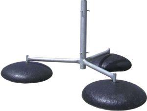Молниеприемник. Тренога на бетонном основании (тренога код: 03006; бетонное основание код: 03002)