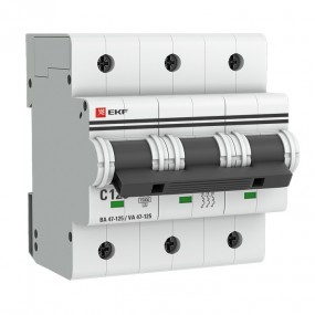 Автоматические выключатели ВА 47-125 EKF PROxima 3P