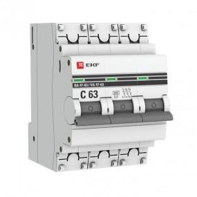 Выключатель ва47 63 6 кА EKF PROxima автоматический