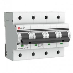 Автоматические выключатели ВА 47-125 EKF PROxima 4P