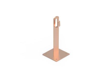Держатель для плоской кровли металлический медный 150 мм