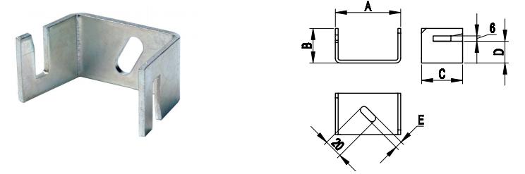 ND2311 Скоба-держатель полосы, 45 мм
