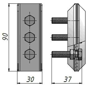 Зажим тросовый К-296 анкерный натяжной СХЕМА
