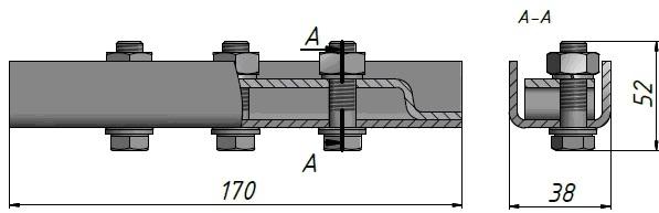 Зажим тросовый К-676 анкерный натяжной ФОТО