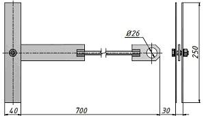Анкер проходной К809 СХЕМА