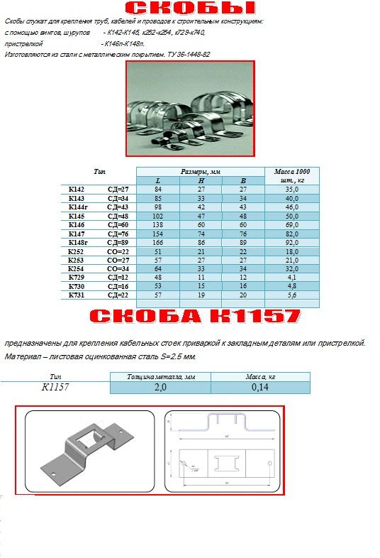 К143 Скоба ( К142 К144 К145 К146 К147, к729-к740)