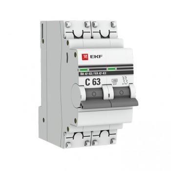 ВА 47 63 2P (C) 4,5 кА EKF PROxima автоматический выключатель