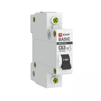 ВА 47 29 4,5кА EKF Basic автоматический выключатель