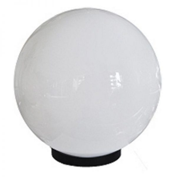 Белые светильники шары серии НТУ садово-парковые