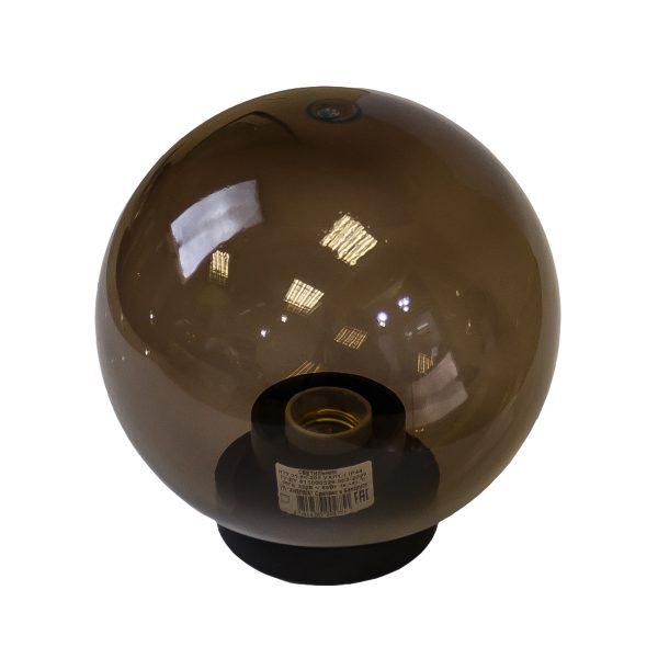 Светильник шар садово-парковый серии НТУ дымчатый