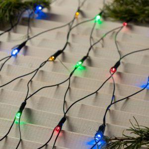 Гирлянда СЕТКА светодиодная, 2 Х 2 м, LED-224-220V, 8 режимов, свечение мульти