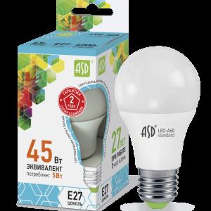 Лампа СД LED-A60-STD 5ВТ 230В Е27 4000К 450ЛМ ASD