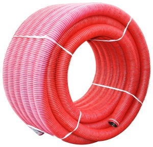 Труба гофрированная двустенная гибкая ТГГД красная