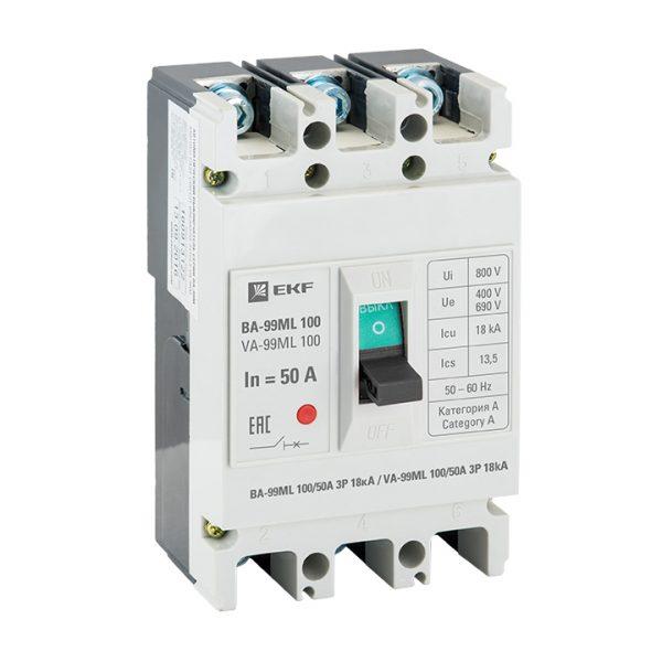 Силовой выключатель автоматический ВА-99МL EKF Basic
