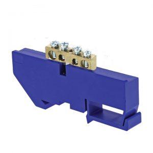 Шина 0 (6х9) изолятор на DIN-рейку синий